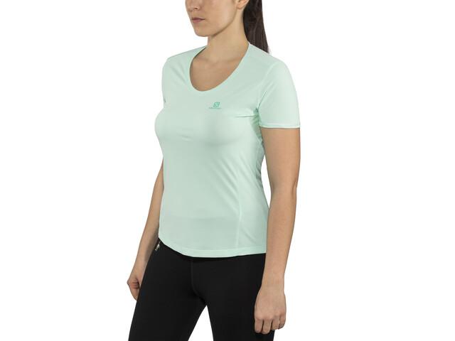 Salomon Agile Koszulka do biegania z krótkim rękawem Kobiety turkusowy